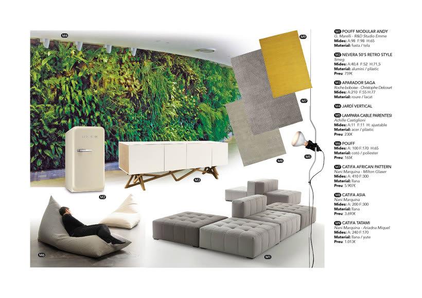 Distribución y elección de mobiliario para un piso en La Pedrera de Barcelona  0