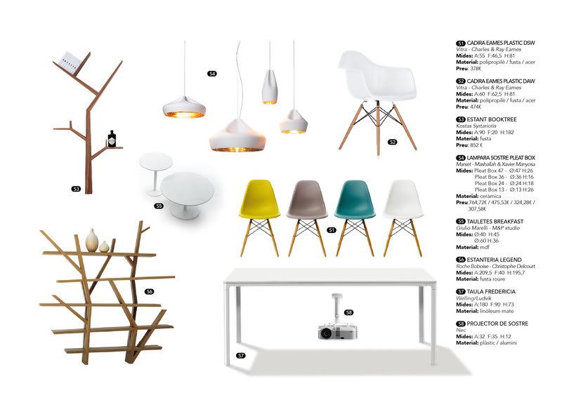 Distribución y elección de mobiliario para un piso en La Pedrera de Barcelona  1