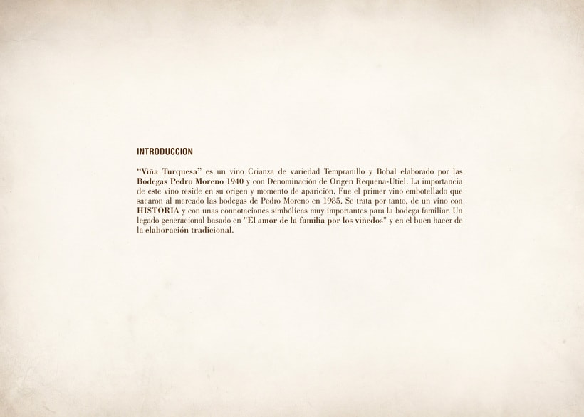 Wine Label Design: Viña Turquesa Crianza (Bodegas Pedro Moreno 1940) 0