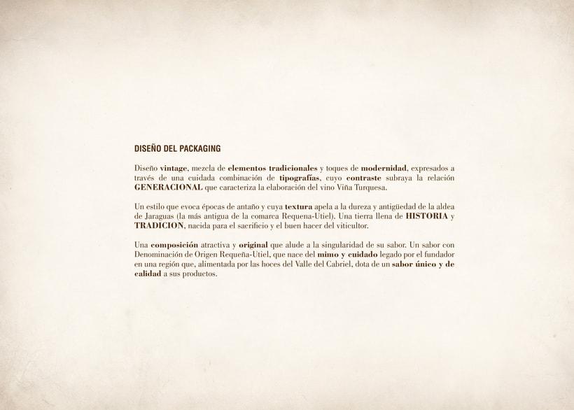 Wine Label Design: Viña Turquesa Crianza (Bodegas Pedro Moreno 1940) 4