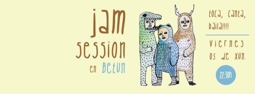 Ilustraciones y cartelería para el bar cultural Betún 3