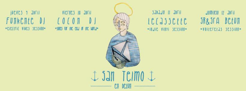 Ilustraciones y cartelería para el bar cultural Betún 5