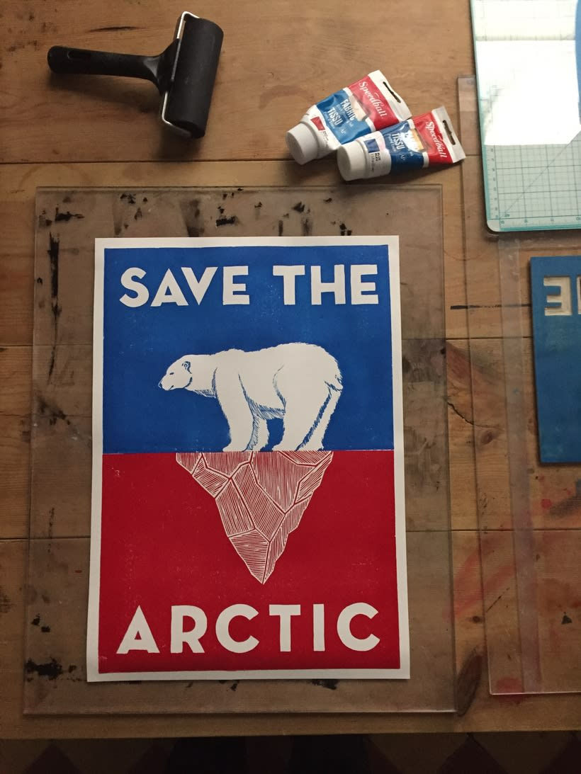 "Campaña para Greenpeace ""Save the Artic"" 8"