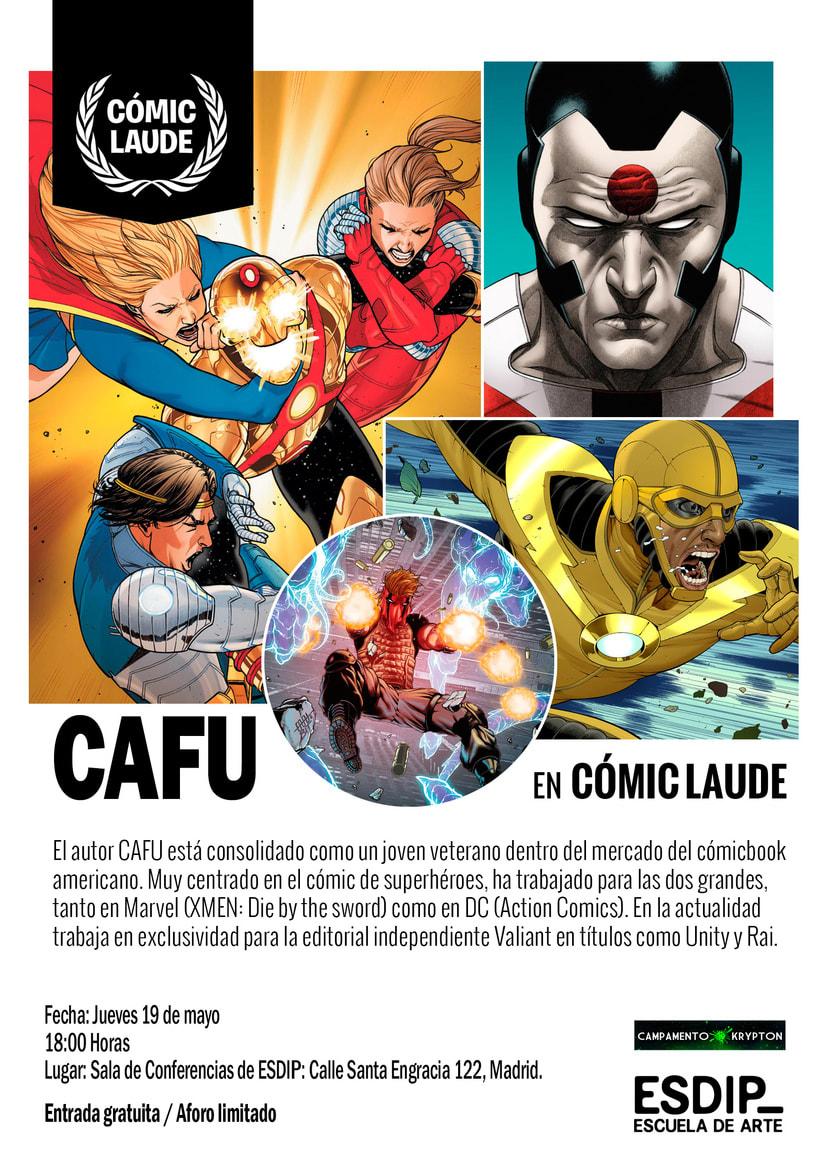 El artista CAFU dará una conferencia gratuita en ESDIP 1