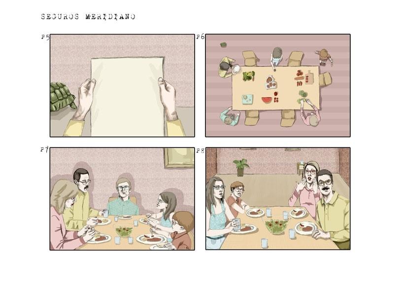 Storyborad Seguros Meridiano. 0