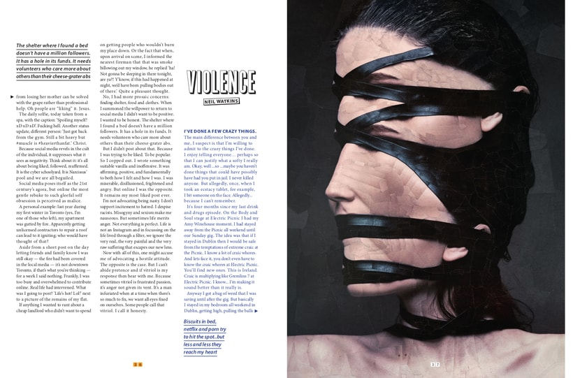 Virtue to Violence for Cult Magazine 5