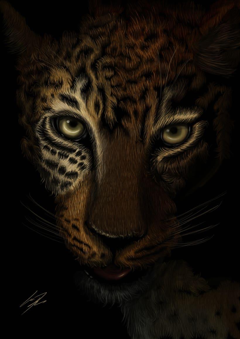 Leopardo Dibujo Digital - Leopard Digital Paint -1