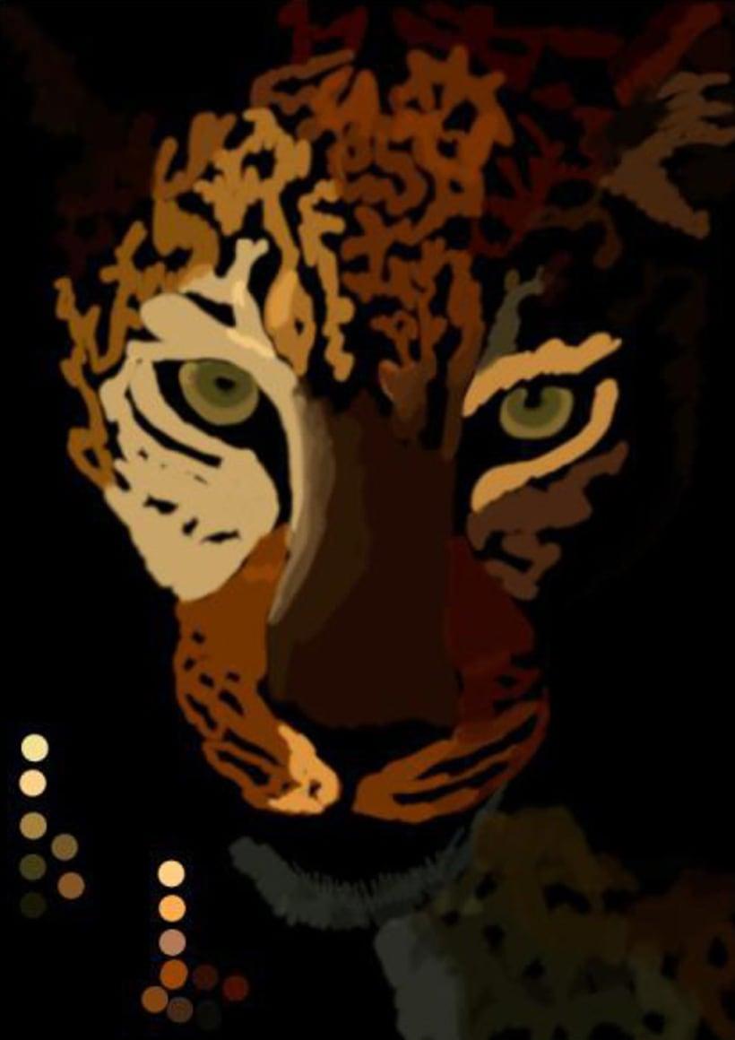 Leopardo Dibujo Digital - Leopard Digital Paint 0