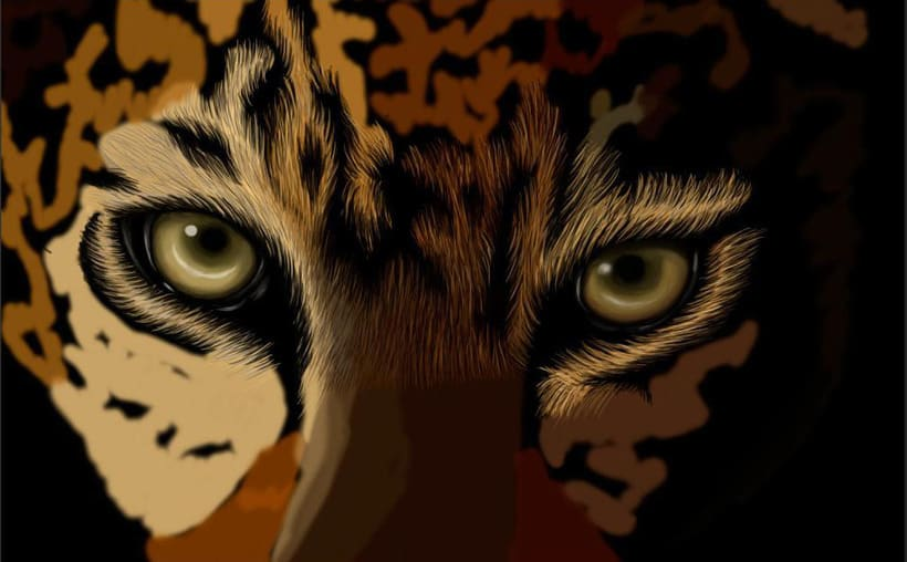Leopardo Dibujo Digital - Leopard Digital Paint 1