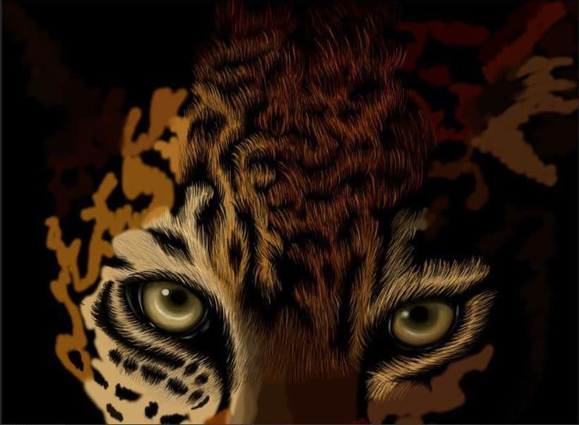 Leopardo Dibujo Digital - Leopard Digital Paint 2