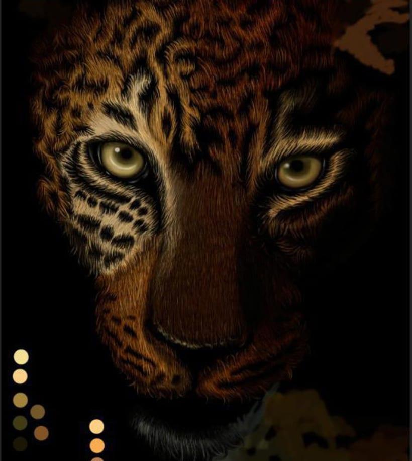 Leopardo Dibujo Digital - Leopard Digital Paint 3