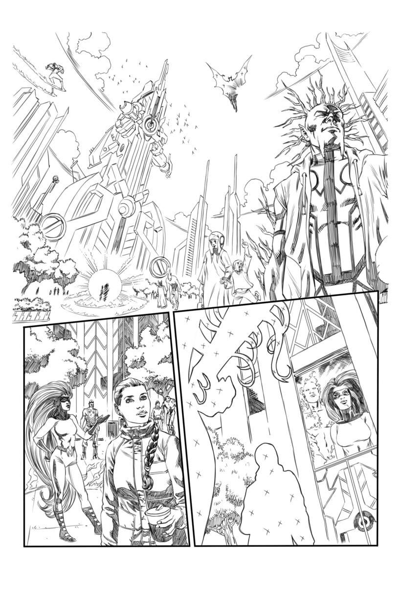 Mi Proyecto del curso: El cómic de superhéroes: narrativa y realización gráfica 2