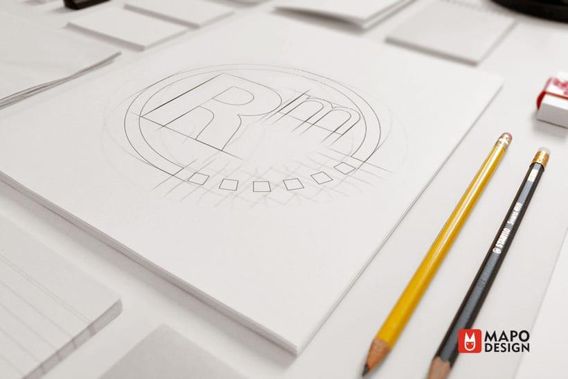 Logo e identidad corporativa Rosa Mohino arquitecta. 0