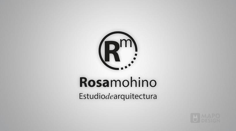 Logo e identidad corporativa Rosa Mohino arquitecta. 1