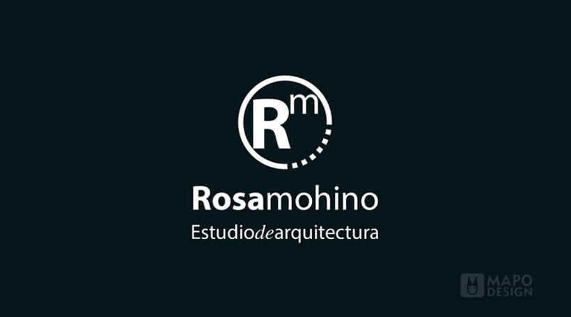 Logo e identidad corporativa Rosa Mohino arquitecta. 2