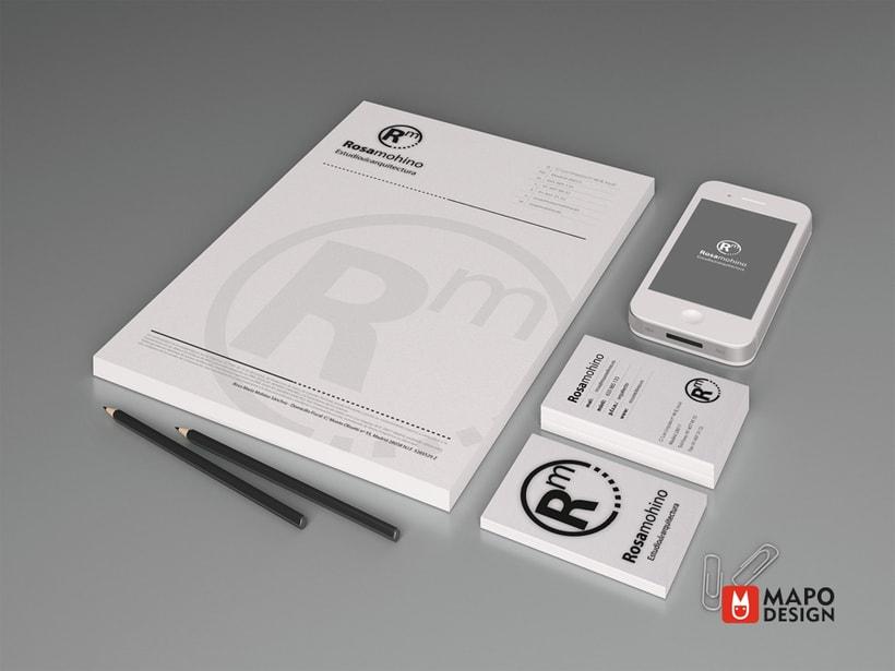 Logo e identidad corporativa Rosa Mohino arquitecta. 4