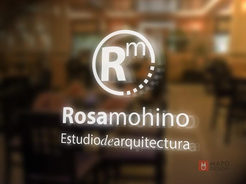 Logo e identidad corporativa Rosa Mohino arquitecta. 5