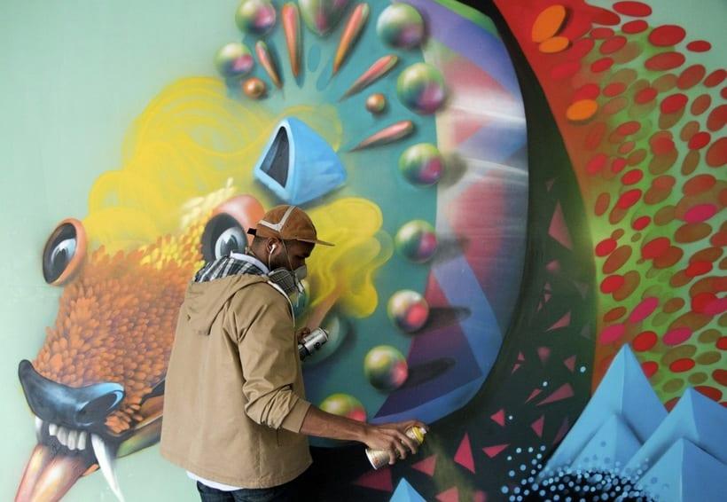 Misticismo y arte urbano de la mano de Curiot 0