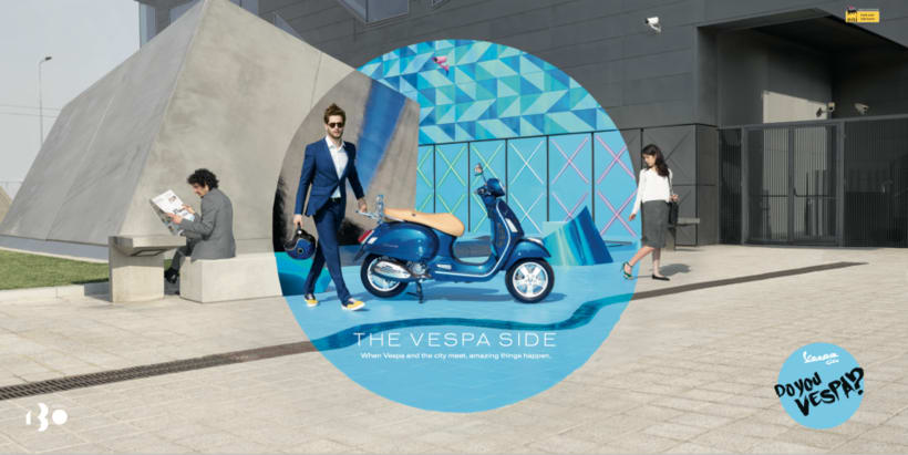 Origami work by Cartoncita to Advertising  for a vespa Press -1