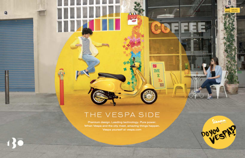 Origami work by Cartoncita to Advertising  for a vespa Press 0
