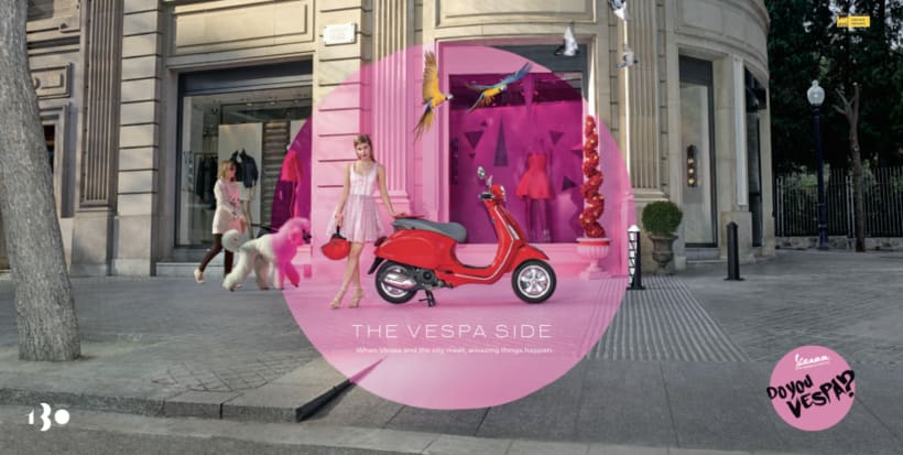 Origami work by Cartoncita to Advertising  for a vespa Press 1