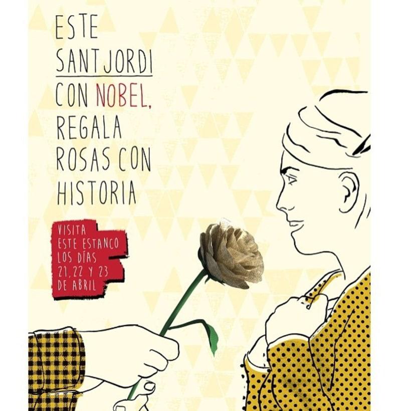 Rosas de origami para campaña de Sant Jordi de Nobel  -1