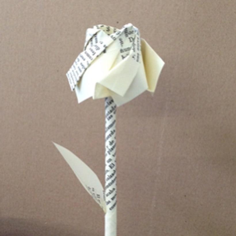 Rosas de origami para campaña de Sant Jordi de Nobel  0
