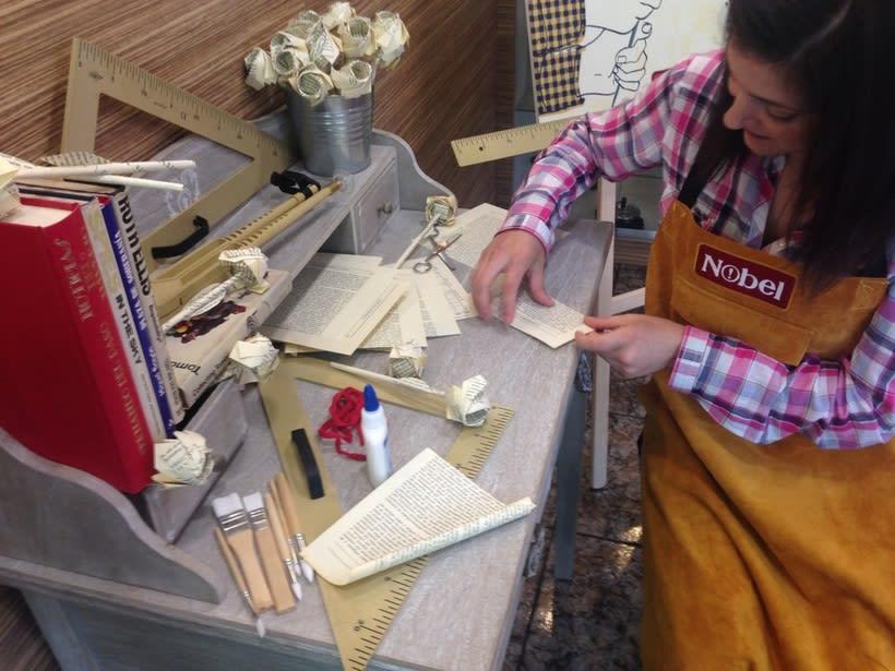 Rosas de origami para campaña de Sant Jordi de Nobel  1