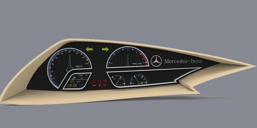 Ejercicio diseño, volumetria, maqueta y modelado 3d (car dashboard) 3