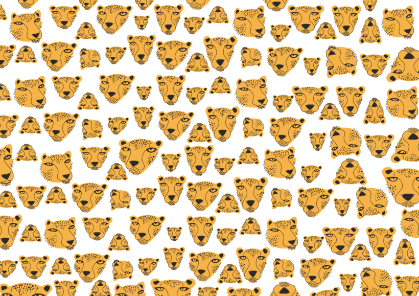 ilustración motivo guepardo  0
