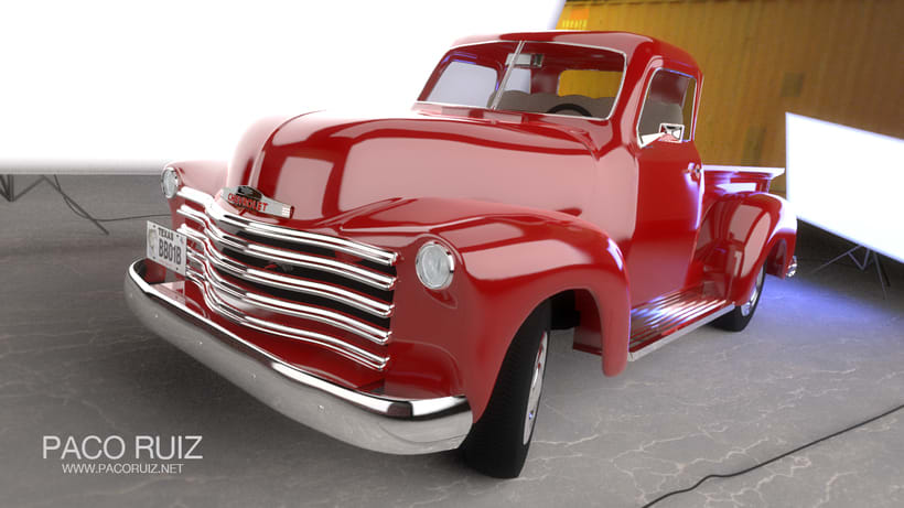 Chevrolet Pickup 1950 | Maya, Arnold, Photoshop 0