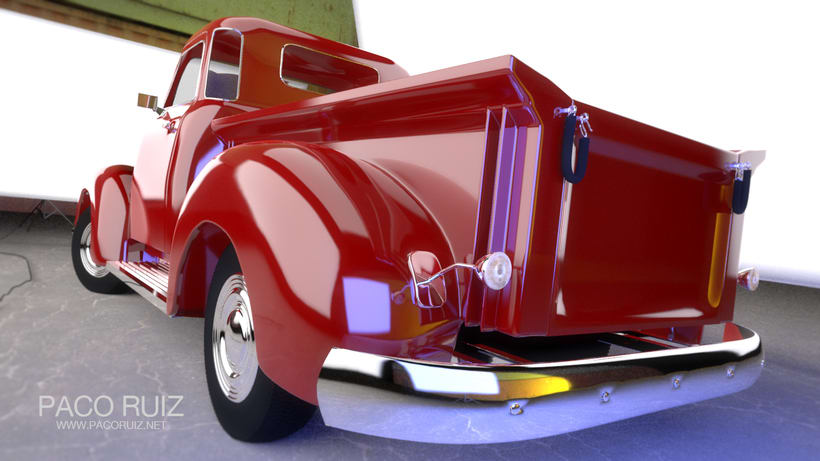 Chevrolet Pickup 1950 | Maya, Arnold, Photoshop 2
