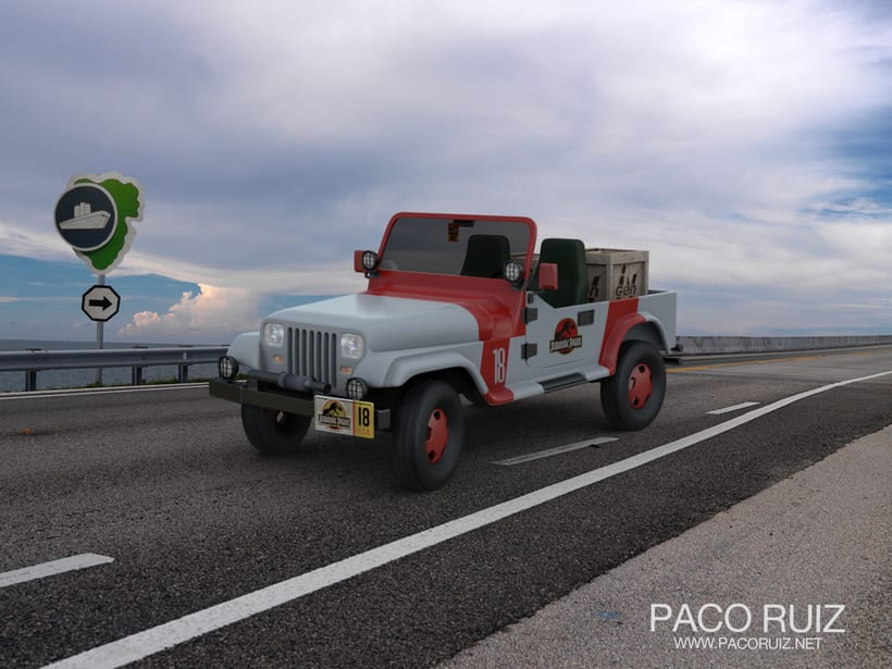 Jurassic Park jeep 1992 | Maya, Arnold, Photoshop 2