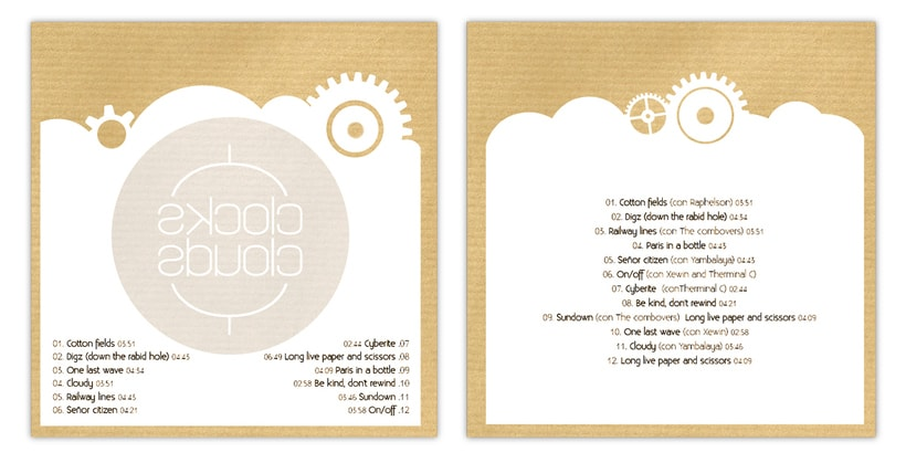 """Doble CD """"Clocks & clouds"""" Fauve 7"""
