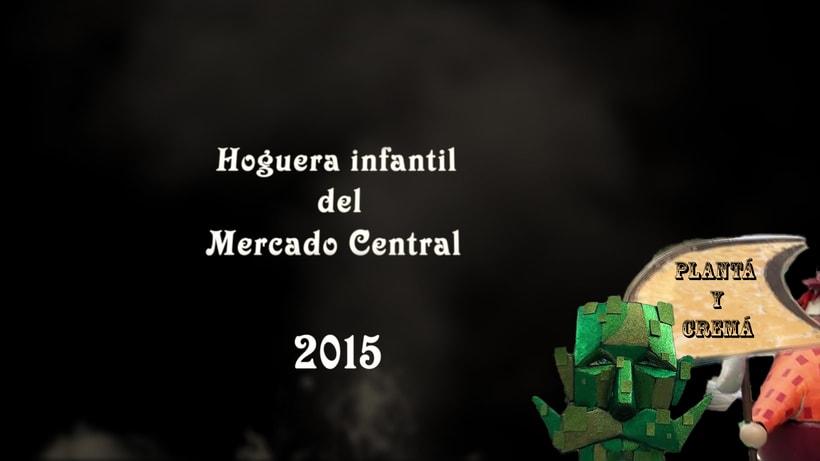 Plantá y Cremá de la Hoguera Infantil Mercado Central 2015  -1