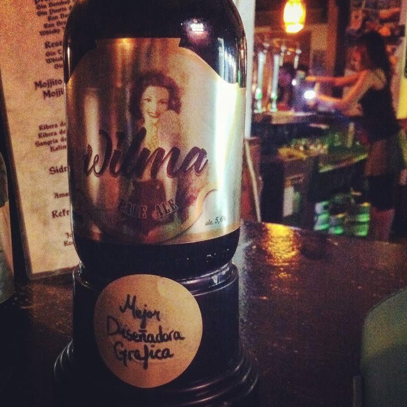 Cerveza Wilma. Diseño de etiqueta. 2º Premio Granada Beer Festival 0