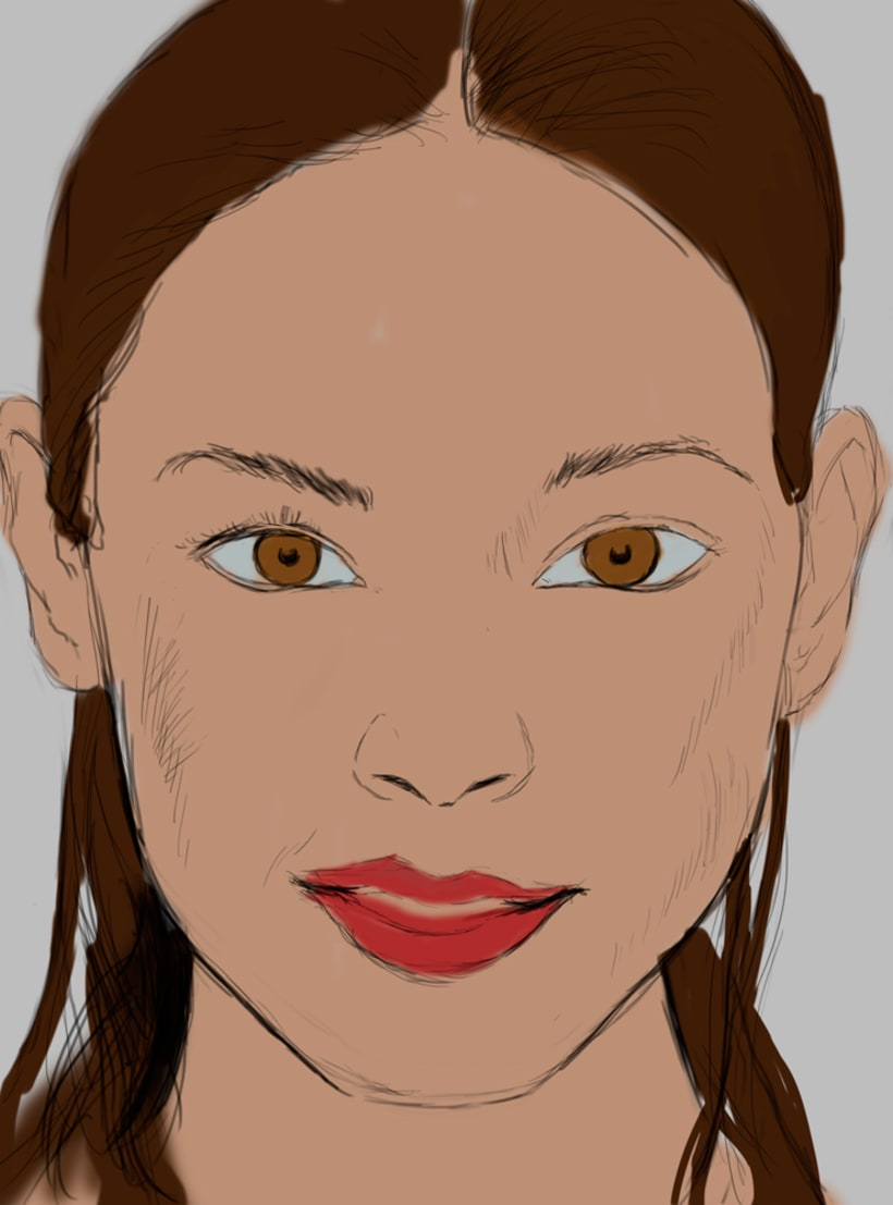Retrato tableta gráfica 4