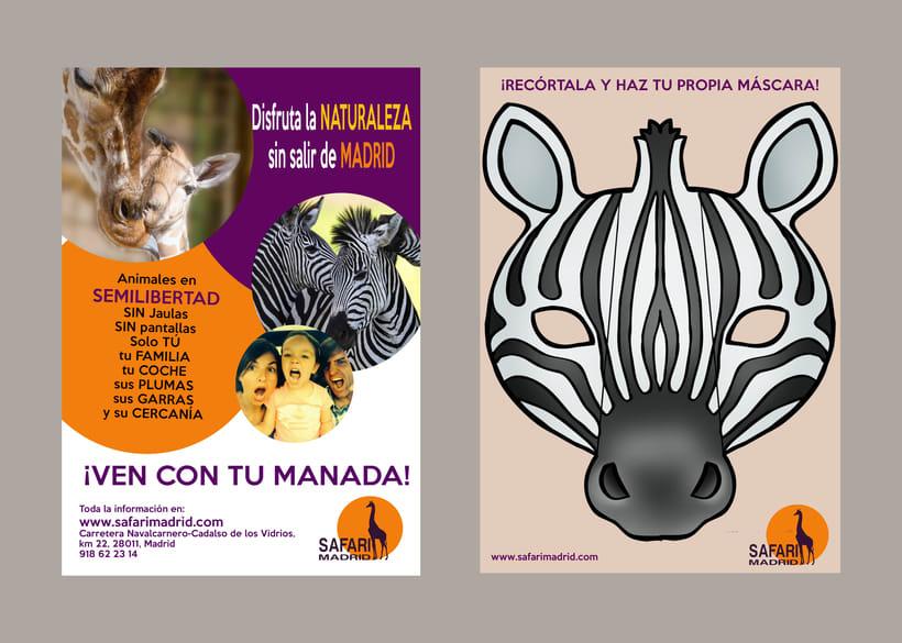 Logotipo y Flyer Safari Madrid 2