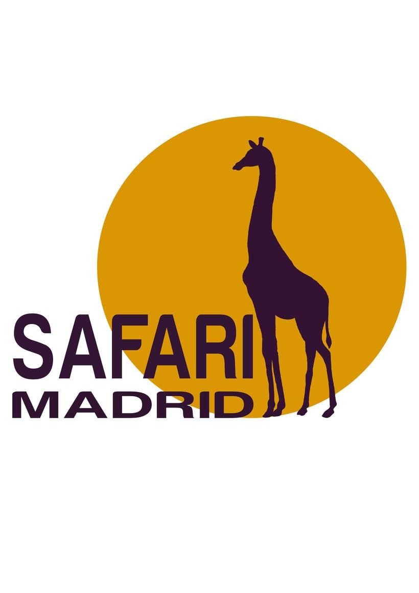Logotipo y Flyer Safari Madrid 0
