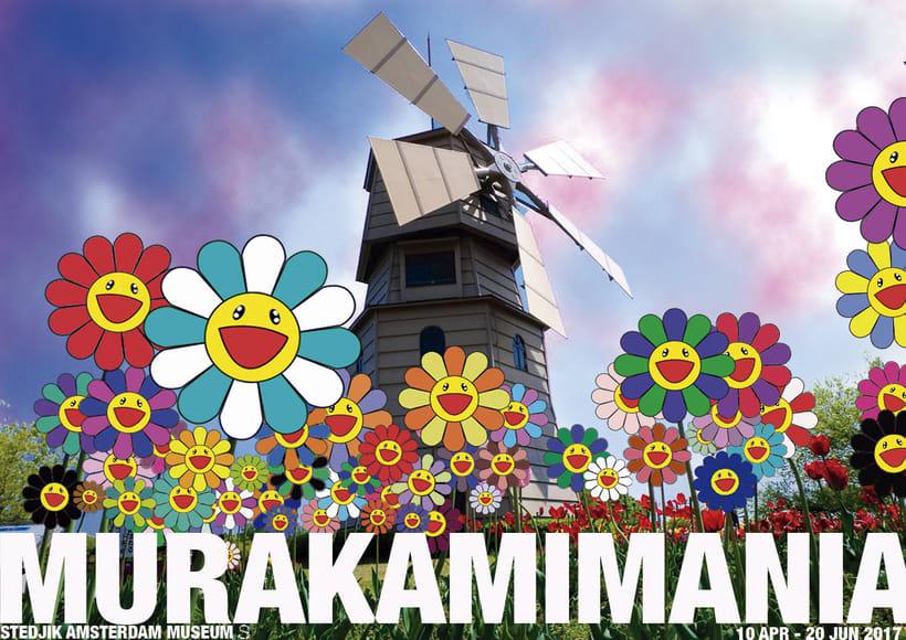 Cartel para la Exposición de Takashi Murakami -1