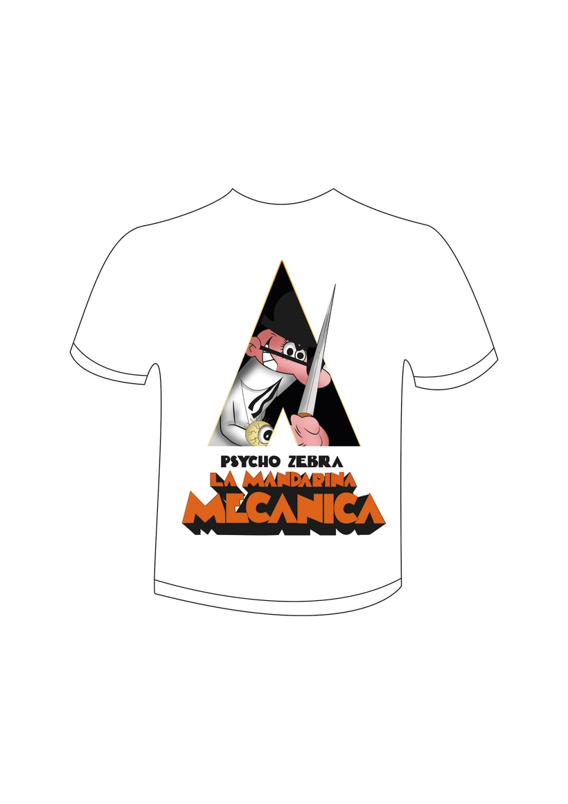 Camiseta para Psycho Zebra -1