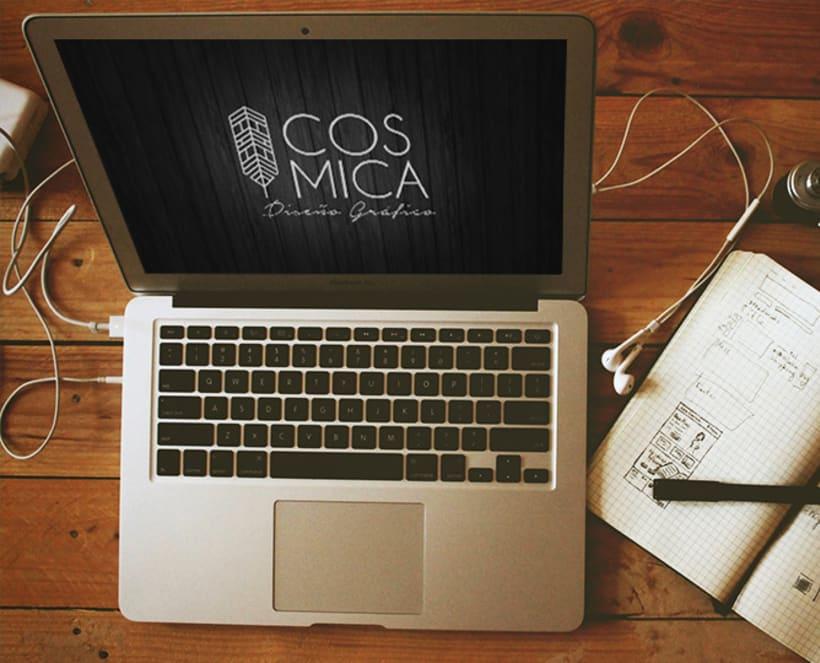 Identidad Corporativa - Cósmica Estudio de Diseño y Comunicación Visual 3