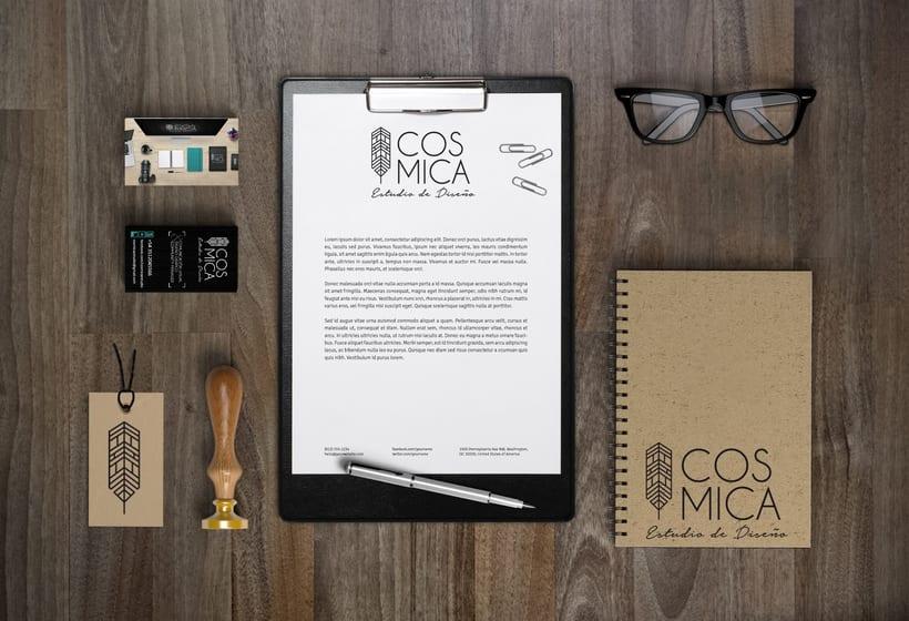 Identidad Corporativa - Cósmica Estudio de Diseño y Comunicación Visual 5