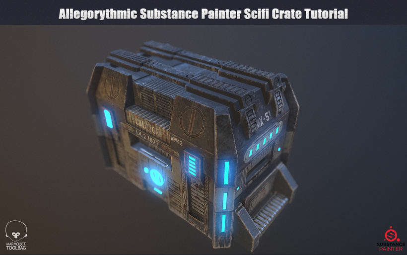 3D PBR Scifi Crate Texture & Material -1