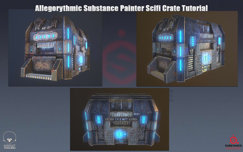 3D PBR Scifi Crate Texture & Material 1