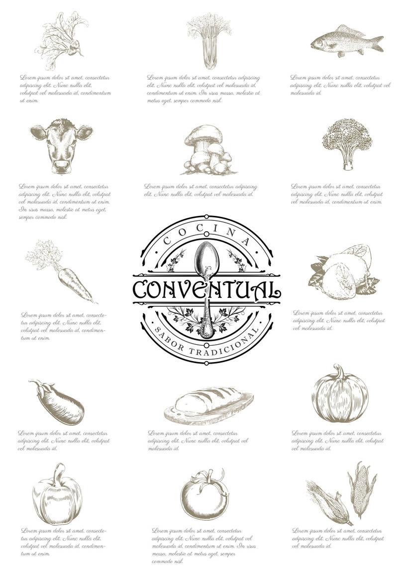 Logo, imagen y línea gráfica Cocina Conventual 0