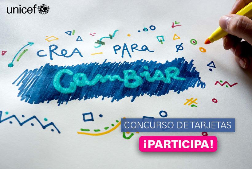 Primer concurso de diseño de tarjetas de Regalo Azul de UNICEF 1
