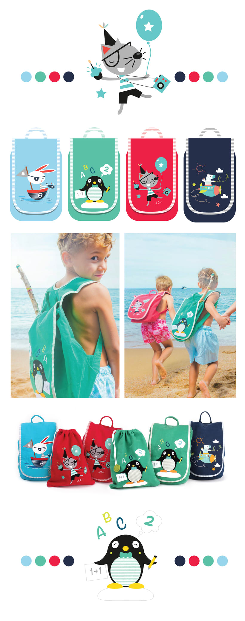 Personajes Baby Backpacks 0
