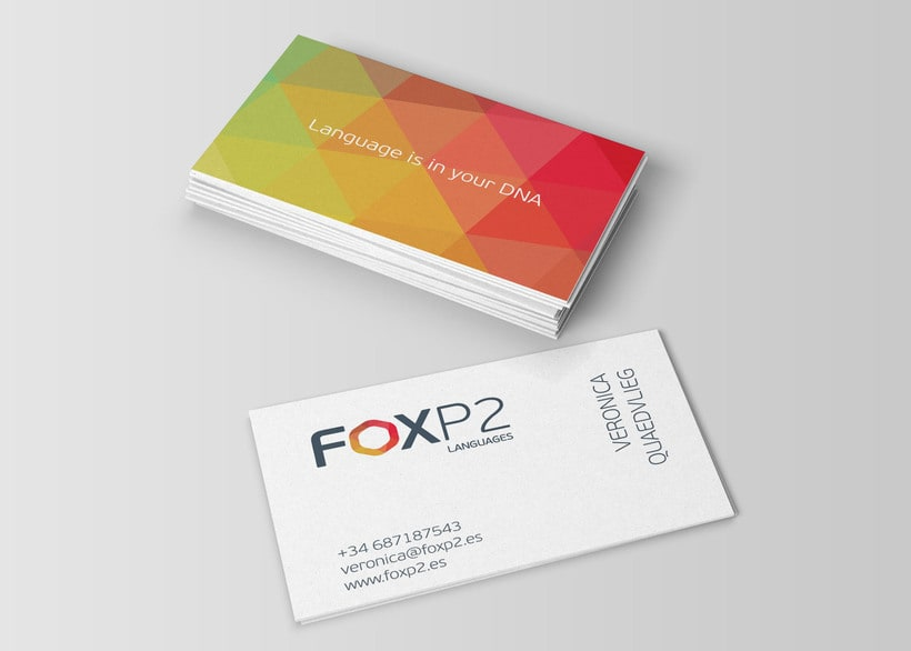 FoxP2 Languages // logo & branding design 1