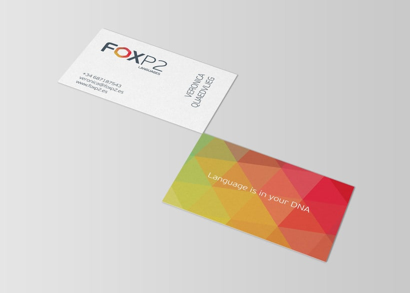 FoxP2 Languages // logo & branding design 2